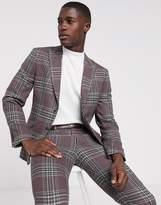 Jack & Jones Premium super slim suit jacket in wool check