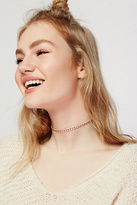 Womens STUDDED LEATHER CHOKER