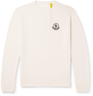 MONCLER GENIUS Logo-Appliqued Virgin Wool Sweater