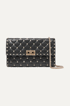 Valentino Rockstud Spike Quilted Leather Shoulder Bag