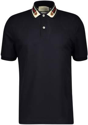 Gucci Web and Tiger Head polo shirt