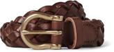 J.crew - 2.5cm Brown Braided Leather Belt