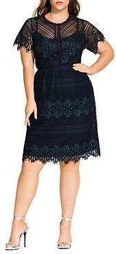 City Chic Plus Lace Dress