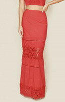 Nightcap Clothing diamond lace maxi skirt
