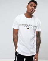 Criminal Damage T-shirt In White With German Sport Logo