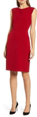 Anne Klein Sabre Stretch Cap Sleeve Sheath Dress