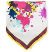 fe-fe paint splatter pocket scarf