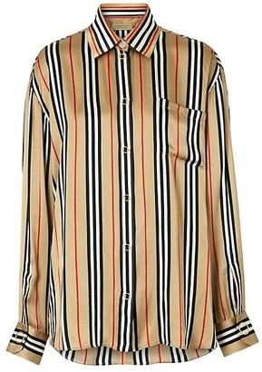 Burberry Godwit Icon Stripe Silk Shirt