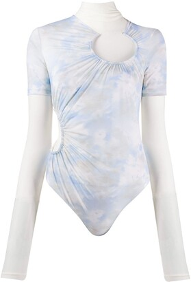 Off-White Tie-Dye Layered Bodysuit