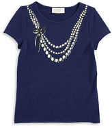 Kate Spade Girls 2-6x Necklace Graphic Tee