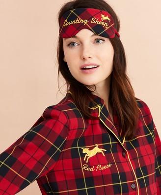 Brooks Brothers Tartan Cotton Twill Pajama & Eye-Mask Set