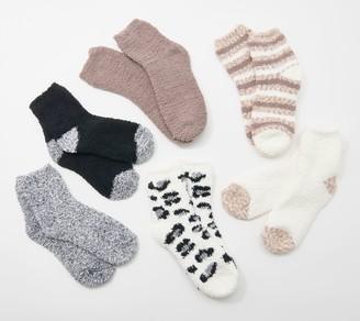 Me Moi MeMoi Cozy Crew Socks Set of 6
