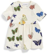 Mini Rodini Infant Girl's Butterflies Organic Cotton Dress