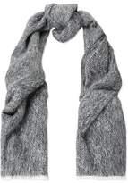 Brunello Cucinelli Distressed Alpaca And Wool-Blend Scarf