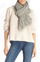 Sole Society Fringe Textured Knit Scarf