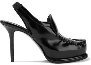 Stella McCartney Faux Glossed-leather Platform Slingback Pumps
