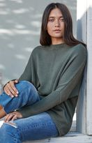 La Hearts Ribbed Sleeve Pullover Sweater