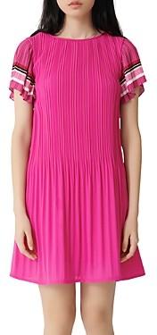 Maje Rolini Pleated Mini Dress