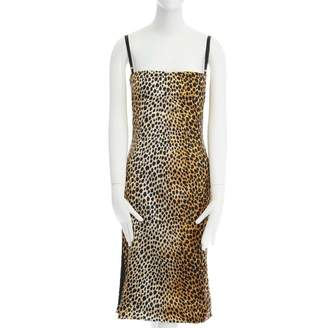 Dolce & Gabbana Brown Silk Dresses