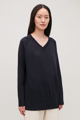 Cos V-Neck Merino Jumper