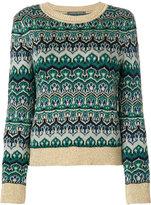 Alberta Ferretti crew neck knitted sweater
