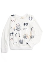 Toddler Girl's Truly Me Bicycle Long Sleeve Tee