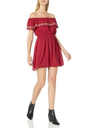My Michelle Women's Off The Shoulder Pop Over Dress