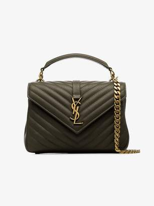 Saint Laurent Medium Monogram Quilted Leather College Bag