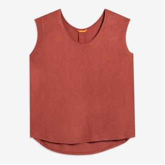 Joe Fresh Women+ Pleated Back Tank, Dusty Red (Size 1X)