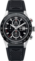 Tag Heuer CAR201ZFT6046 Carrera round black strap watch