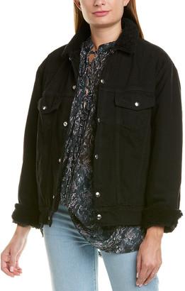 IRO Gravity Leather-Trim Jacket
