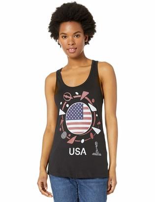 Fifth Sun Junior's Officially Licensed FIFA Women USA Pride Logo Racerback Tank