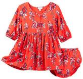 Splendid Floral Allover Print Dress & Bloomers Set (Baby Girls)