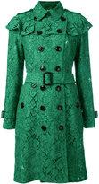 Burberry ruffle trim trench coat