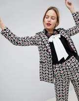Sister Jane Tailored Blazer In Queen Of Hearts Print