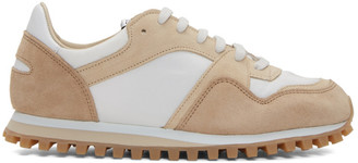 Spalwart Beige and White Marathon Trial WBHS Sneakers