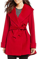 Trina Turk trina Ali Shawl Collar Wool Wrap Coat