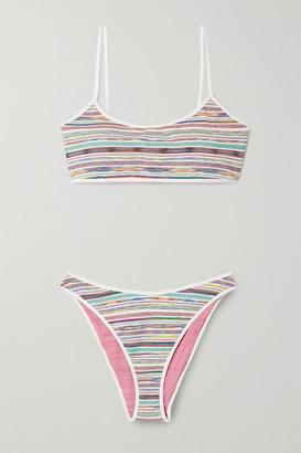 Missoni Mare Striped Metallic Stretch-knit Bikini - Multi