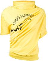 Junya Watanabe Comme Des Garçons draped printed T-shirt
