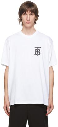 Burberry White Emerson T-Shirt