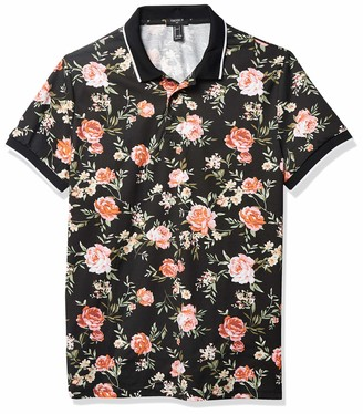 Forever 21 Men's Rose Floral Print Polo