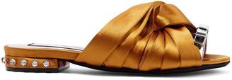 N°21 N21 Twisted Embellished Satin Slides