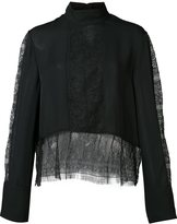 Jenni Kayne lace layer blouse