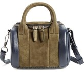 Alexander Wang 'Mini Rockie' Bicolor Leather & Suede Crossbody Satchel