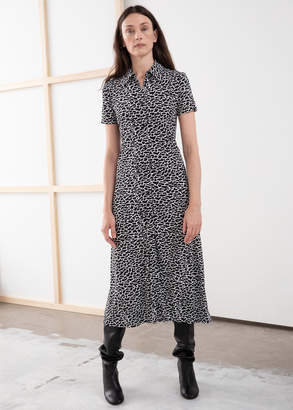 And other stories Button Down Midi Shirt Dress