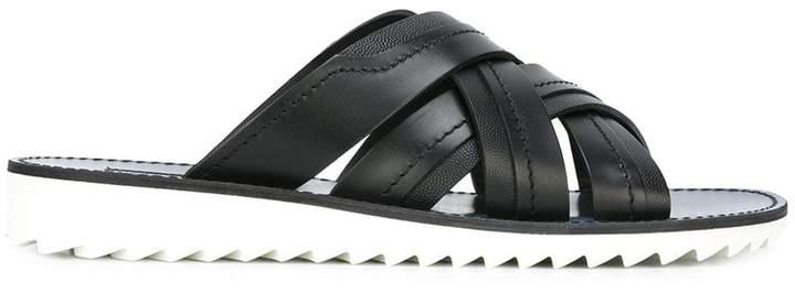 Dolce & Gabbana cross-strap sandals