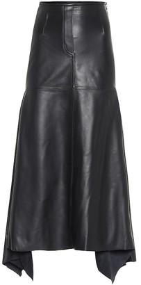 Ellery Riccardo leather midi skirt