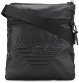 Armani Jeans - embossed logo messenger bag