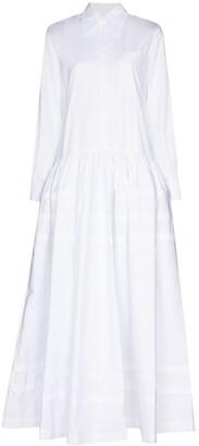 Rosie Assoulin Pleated Long Shirtdress
