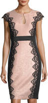 Jax Lace-Trim Keyhole Sheath Dress